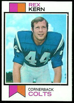 Rex Kern 1973 Topps football card