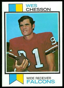 Wes Chesson 1973 Topps football card