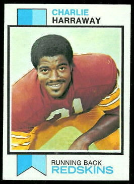 Charlie Harraway 1973 Topps football card