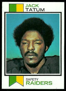 Jack Tatum 1973 Topps football card