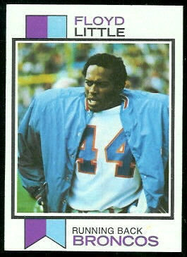 Floyd Little 1973 Topps football card