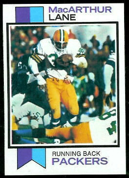 MacArthur Lane 1973 Topps football card