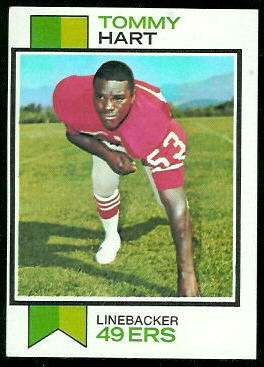 Tommy Hart 1973 Topps football card