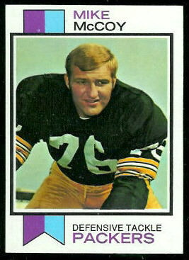 Mike McCoy 1973 Topps football card