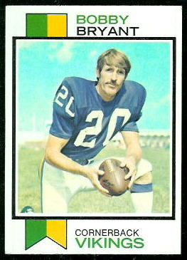 Bobby Bryant 1973 Topps football card
