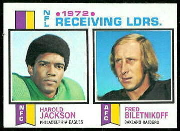 1972 Receiving Leaders 1973 Topps football card