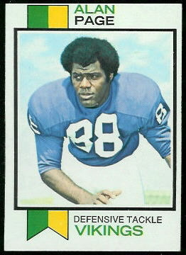 Alan Page 1973 Topps football card