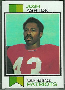 Josh Ashton 1973 Topps football card