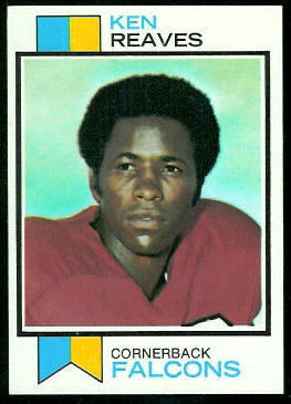 Ken Reaves 1973 Topps football card