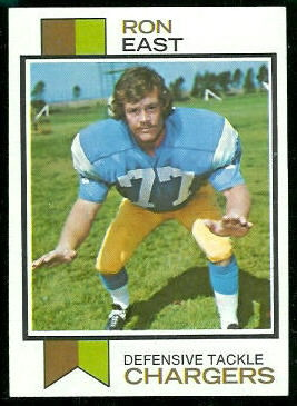 Ron East 1973 Topps football card
