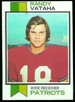 Randy Vataha 1973 Topps football card