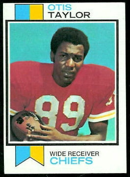 Otis Taylor 1973 Topps football card