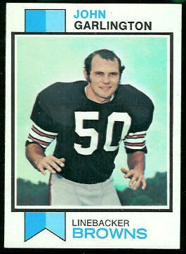 John Garlington 1973 Topps football card