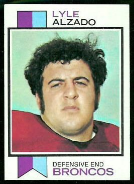 Lyle Alzado 1973 Topps football card