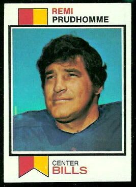Remi Prudhomme 1973 Topps football card