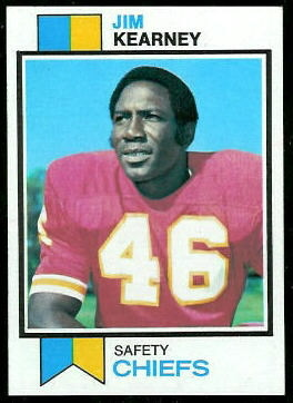 Jim Kearney 1973 Topps football card