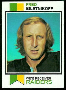 Fred Biletnikoff 1973 Topps football card