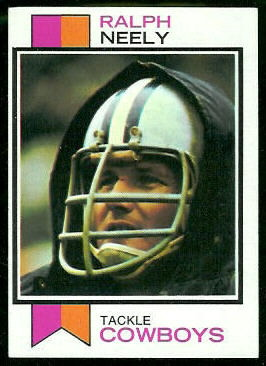 Ralph Neely 1973 Topps football card