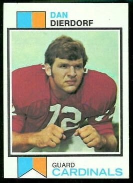 Dan Dierdorf 1973 Topps football card