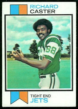 Richard Caster 1973 Topps football card
