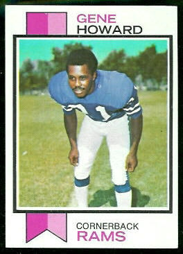 Gene Howard 1973 Topps football card