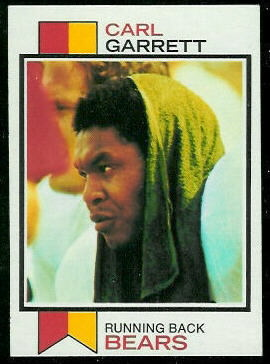 Carl Garrett 1973 Topps football card