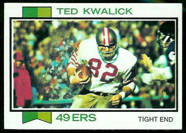 Ted Kwalick 1973 Topps football card