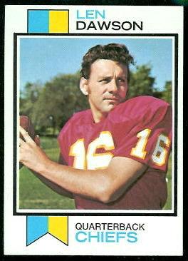 Len Dawson 1973 Topps football card