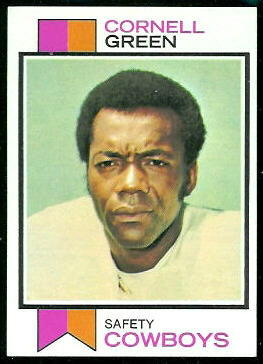 Cornell Green 1973 Topps football card