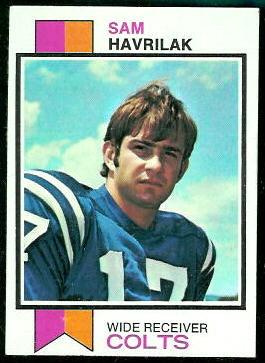 Sam Havrilak 1973 Topps football card