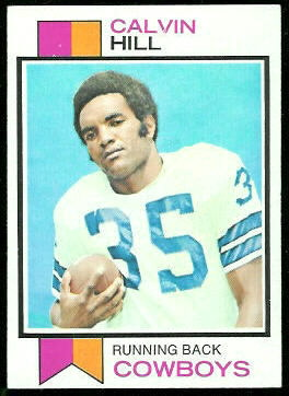 Calvin Hill 1973 Topps football card