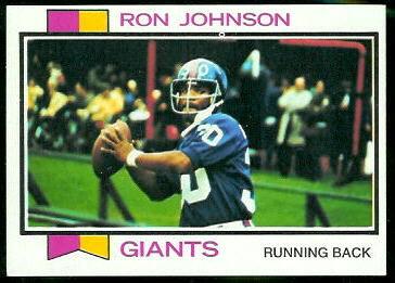 Ron Johnson 1973 Topps football card