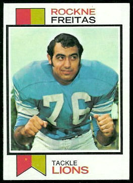 Rockne Freitas 1973 Topps football card