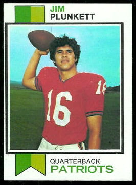 Jim Plunkett 1973 Topps football card