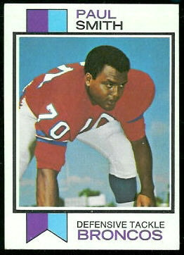 Paul Smith 1973 Topps football card