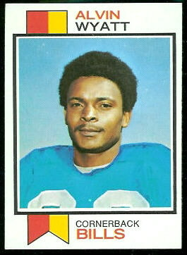 Alvin Wyatt 1973 Topps football card