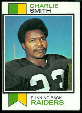 Charlie Smith 1973 Topps football card
