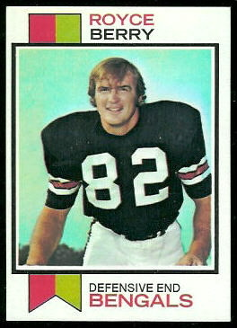Royce Berry 1973 Topps football card