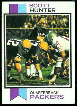 Scott Hunter 1973 Topps football card