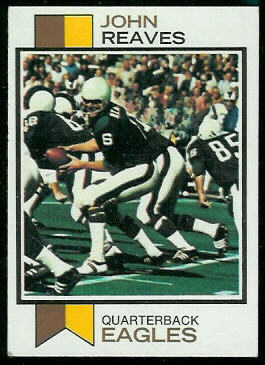 John Reaves 1973 Topps football card