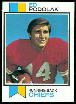 Ed Podolak 1973 Topps football card