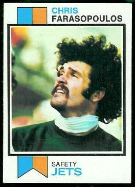 Chris Farasopoulos 1973 Topps football card