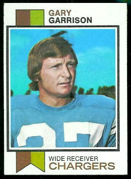 Gary Garrison 1973 Topps football card