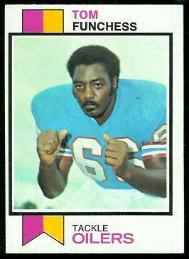Tom Funchess 1973 Topps football card