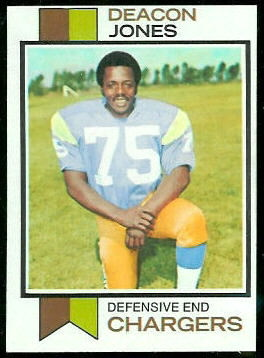 Deacon Jones 1973 Topps football card