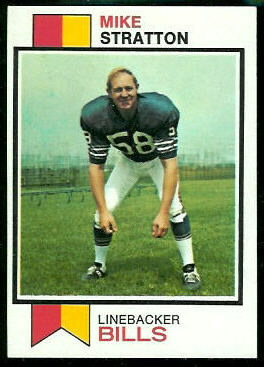 Mike Stratton 1973 Topps football card