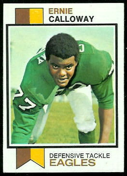 Ernie Calloway 1973 Topps football card