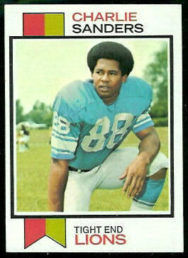 Charlie Sanders 1973 Topps football card