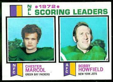 1972 Scoring Leaders 1973 Topps football card