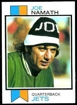 Joe Namath 1973 Topps football card